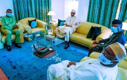 Adeboye meets Buhari in Aso Rock