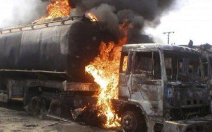 Many Injured, Trucks Burnt As Tanker Explodes In Lagos