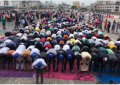See Video:  Muslim protesters observing Juma't in Lagos